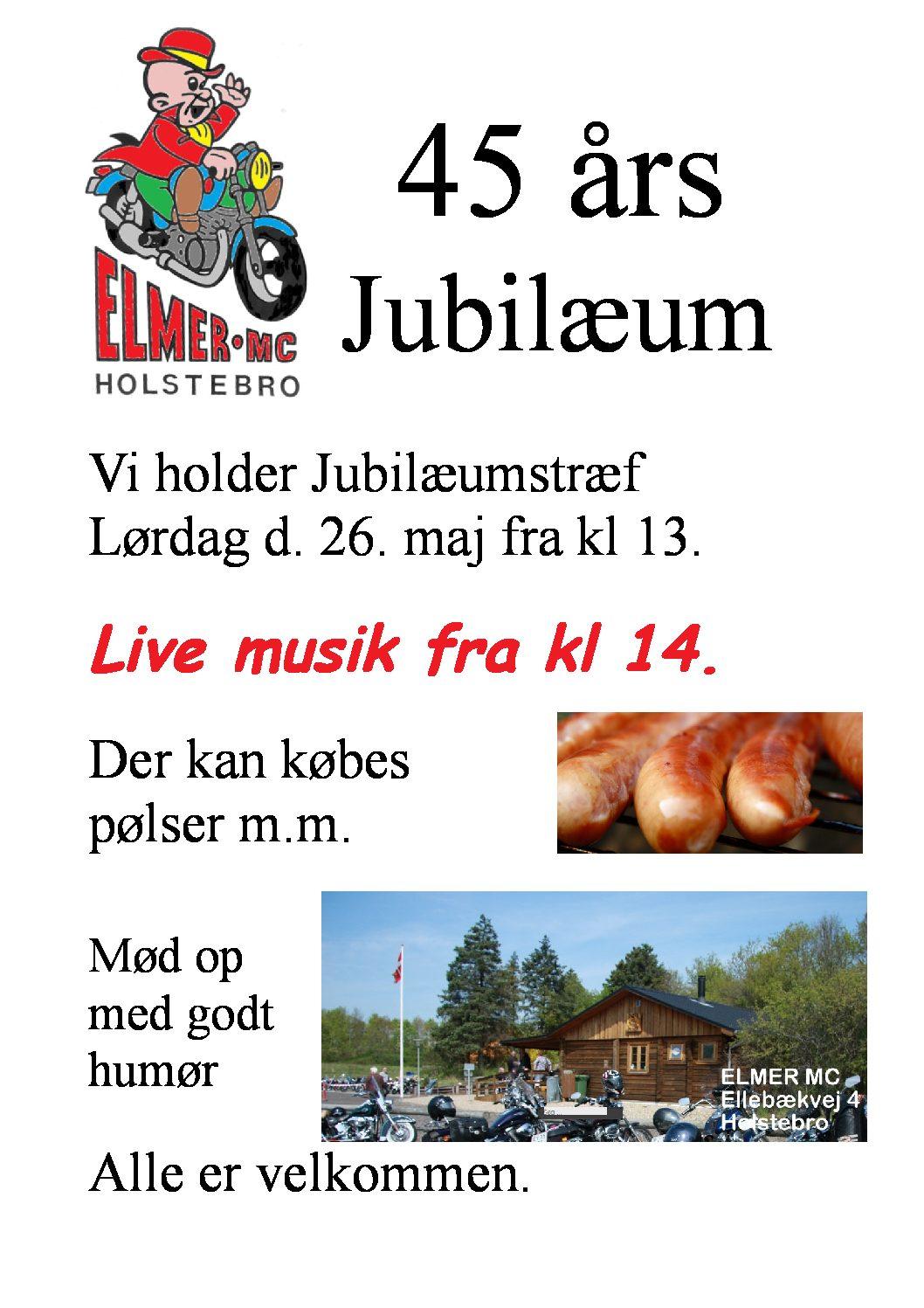Elmer MC i Holstebro holder 45 års jubilæum.